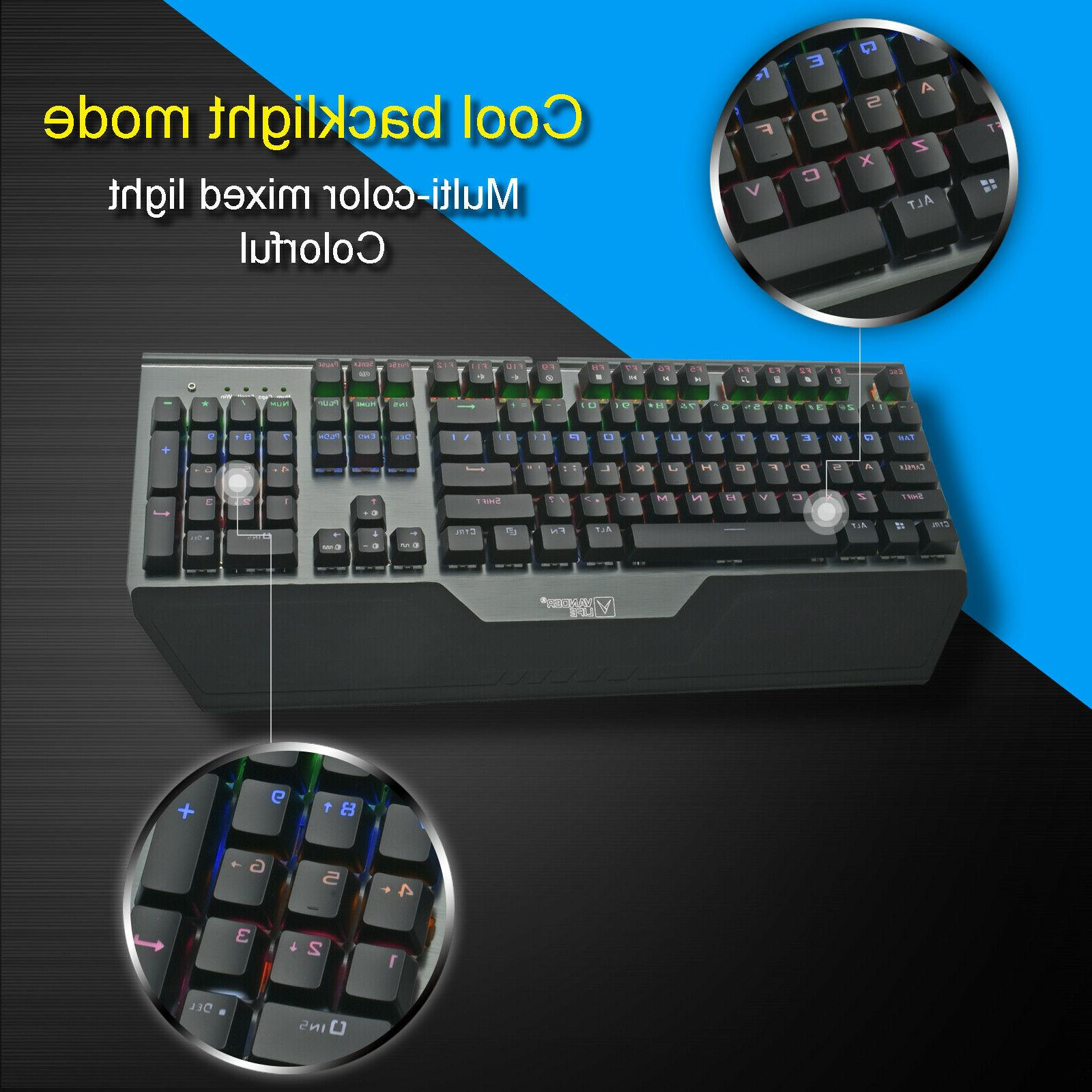 Mechanical Keyboard RGB High Speed US Ergonomic Keypads