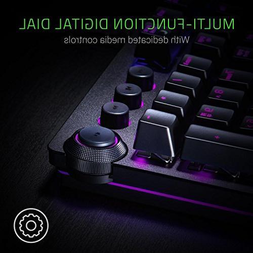 Razer Huntsman Elite: Switch Multi-Functional Digital Dial Keys - Leatherette Rest - 4-Side Gaming Keyboard