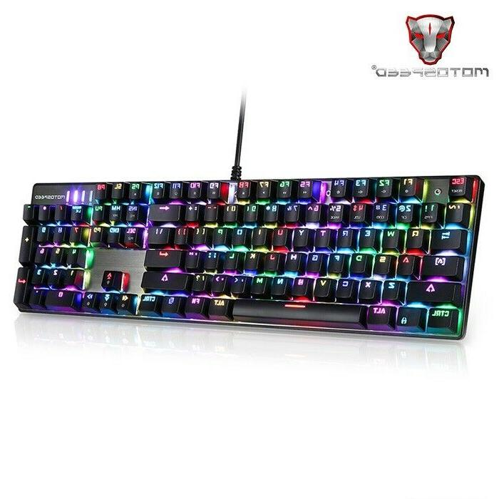 Motospeed Inflictor Gaming Mechanical Keyboard Keyboards Backlight