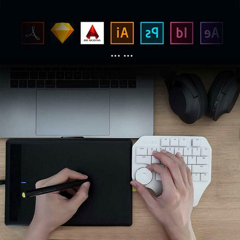 J-Tech Digital Mechanical Keyboard/ Keypad, Backlit /Smart Knob