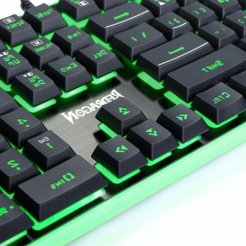 Redragon K509 Gaming Keyboard, Mechanical Key Rgb Led