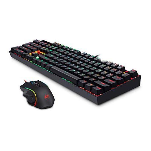 Redragon K551-RGB-BA Mechanical Keyboard Combo Wired Backlit 104 Key Computer Backlit PC Mouse M602