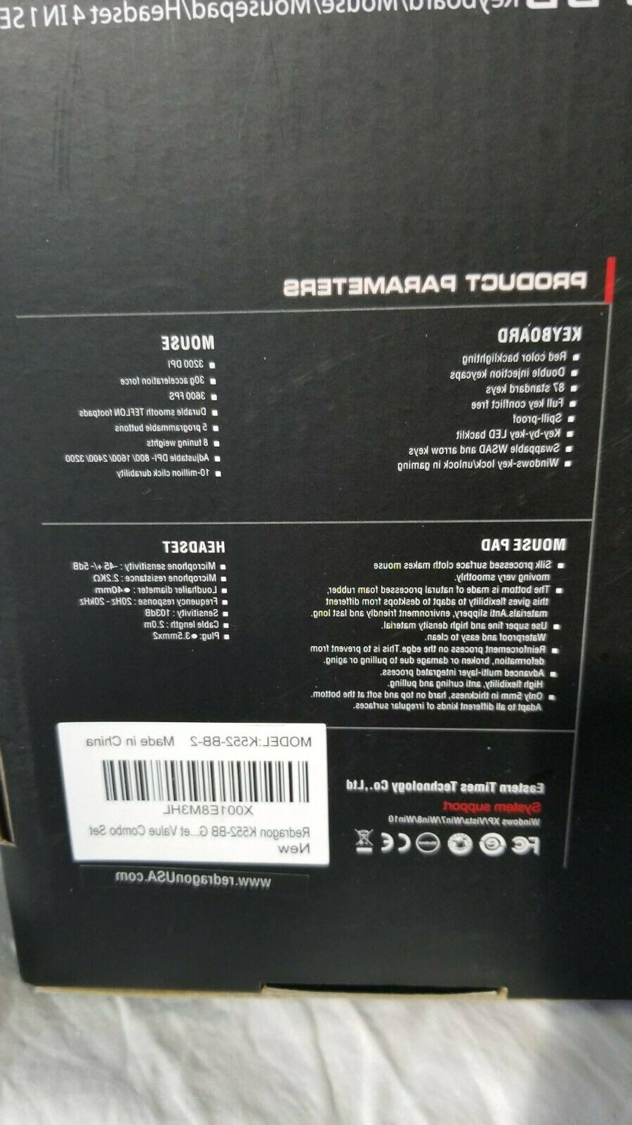 Redragon K552-BB Mechanical and Headset with