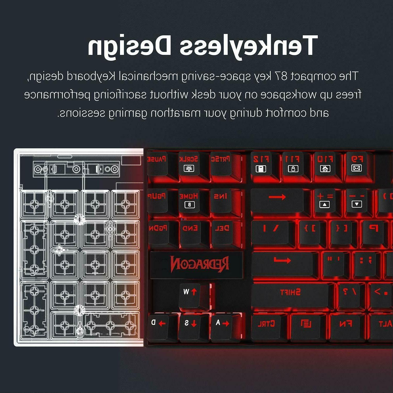 Redragon K552 Mechanical Gaming Keyboard Small TKL