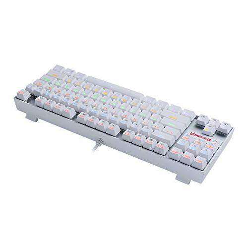 Redragon Rainbow Gaming Keyboard Keyboard 87 PC Computer Blue Switches