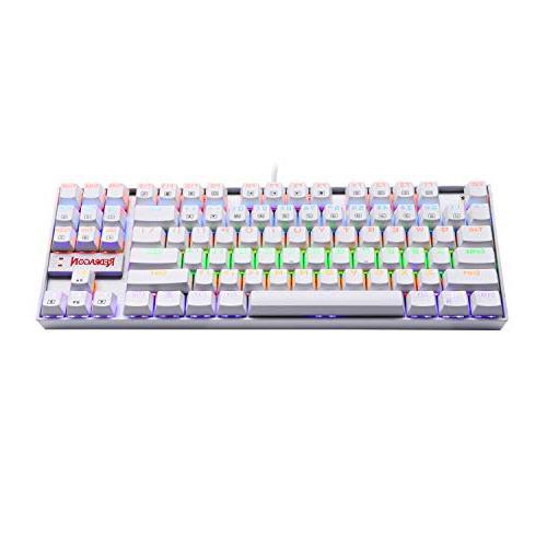 Redragon K552W KUMARA LED Rainbow Mechanical Keyboard Compact Keyboard 87 Key PC Computer Gaming Keyboard Cherry Blue