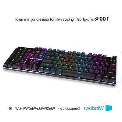 Redragon RGB Keys Gaming Keyboard + 8PCS Switches