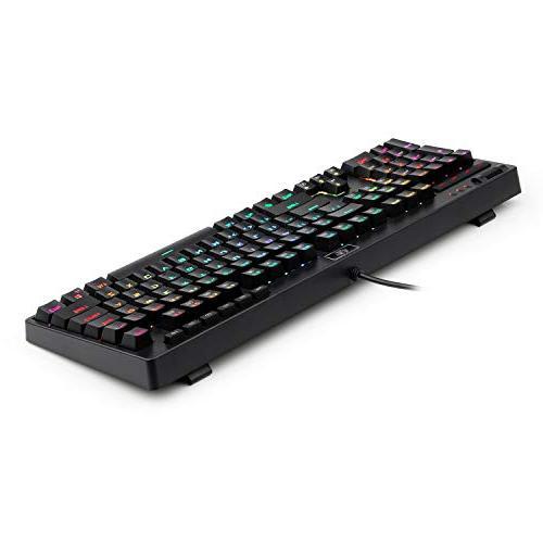 REDRAGON Keyboard Wired RGB Macro Keys Keys Computer PC Laptop Clicky Blue Equivalent