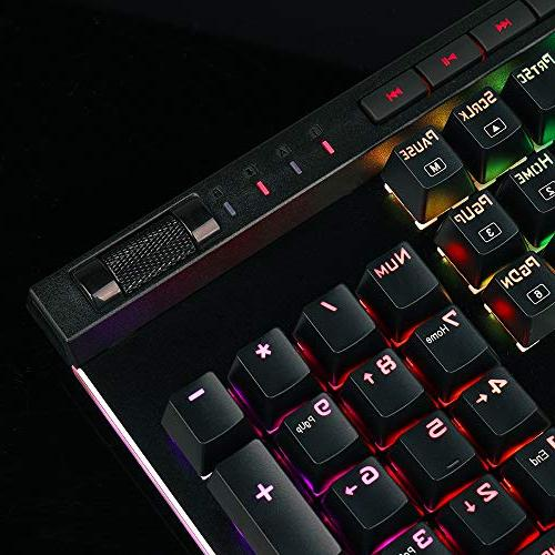 Redragon K580 LED Backlit Mechanical Gaming Keyboard with Keys & Dedicated Media Onboard Macro Recording