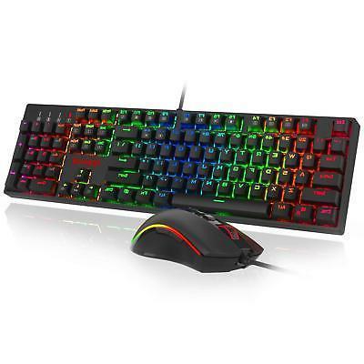 Redragon K582 RGB Mechanical Gaming Keyboard 10000 DPI Set