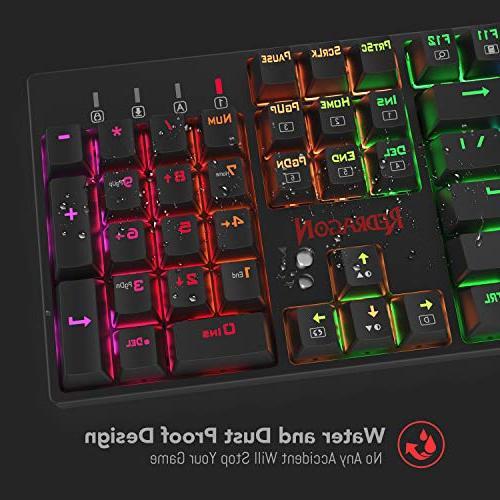 Redragon K582 SURARA RGB LED Backlit Mechanical Gaming Keyboard Quiet-Red