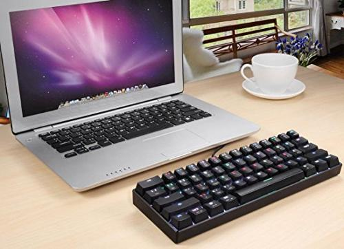 K61 Wired RGB Multi-Device Keyboard Brown Gaming, Office