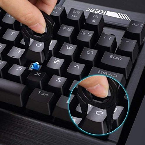 Rii Backlit K63C Gaming Keyboard,87keys 3 Macro Keys