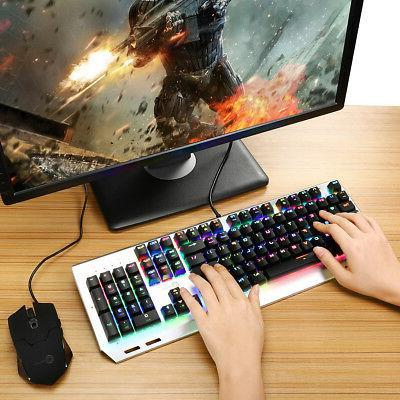 Ombar K676 RGB Key Mechanical Gaming Keyboard with Blue