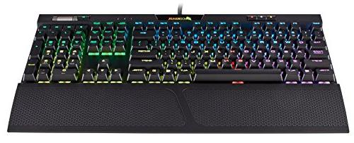 CORSAIR MK.2 Mechanical Keyboard USB Passthrough Controls Quiet - Cherry Red RGB Backlit