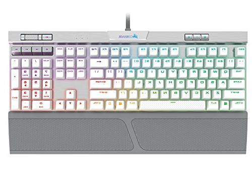 CORSAIR K70 SE Mechanical Keyboard USB Passthrough & Media Controls - PBT Double-Shot - Cherry MX RGB LED