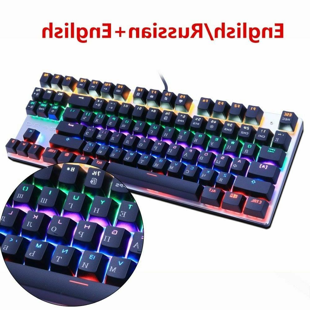 Keyboard 87 Switch Gaming Tablet Russian Accessories