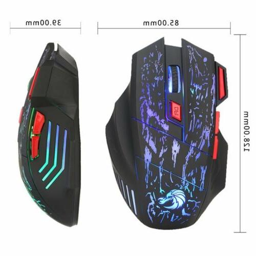 Keyboard Mouse Set for PS3 One and Gaming Rainbow LED