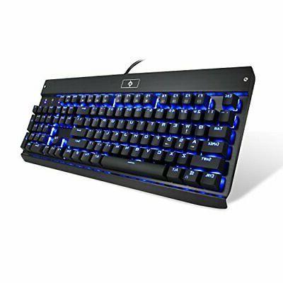 kg010 mechanical keyboard usb wired blue led