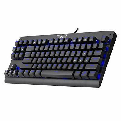 kg040 mechanical gaming keyboard blue led rgb