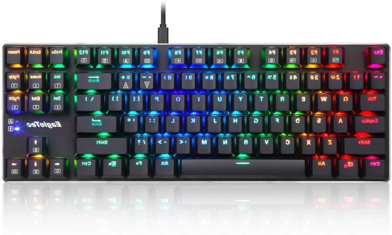 EagleTec RGB Backlit Gaming Low Profile Mechani