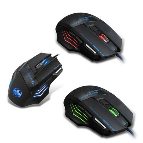 LED Mouse Set Mechanical Feel Breathable Light Backlit PC