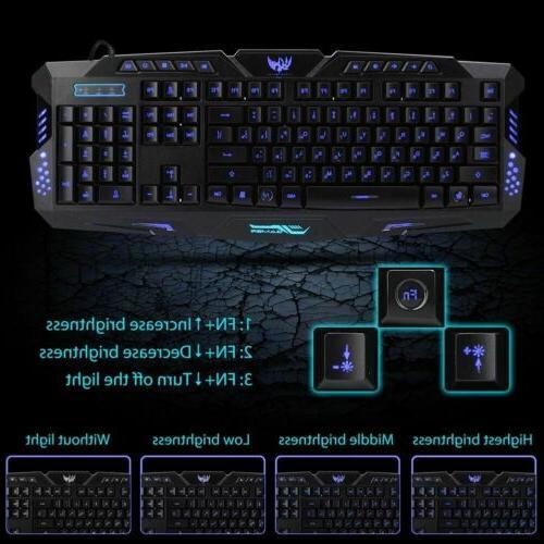 LED Gaming Mouse Set Mechanical Feel PC