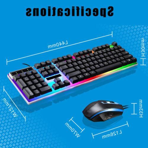LED Mouse Breathable Light PC