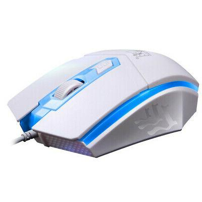 LED Rainbow Backlight Adjustable Gaming Wired Mouse