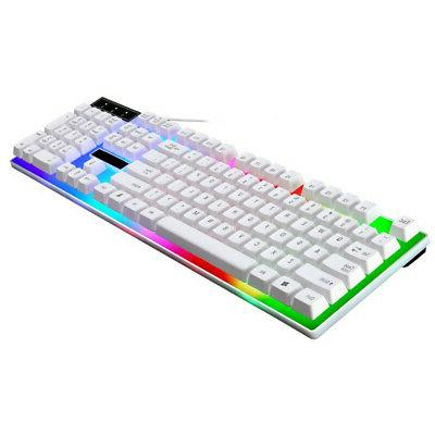 LED LED Rainbow Backlight Adjustable Wired Keyboard