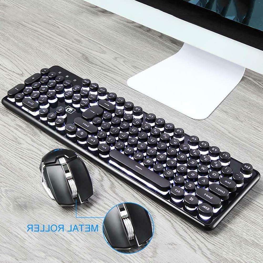 LED Keyboard Wireless Backlight