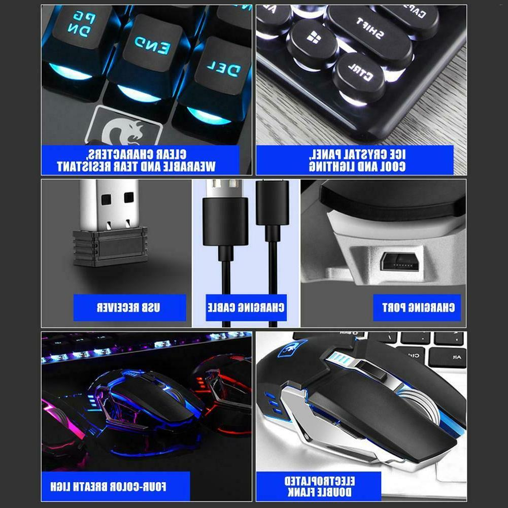 LED Light Keyboard and Wireless