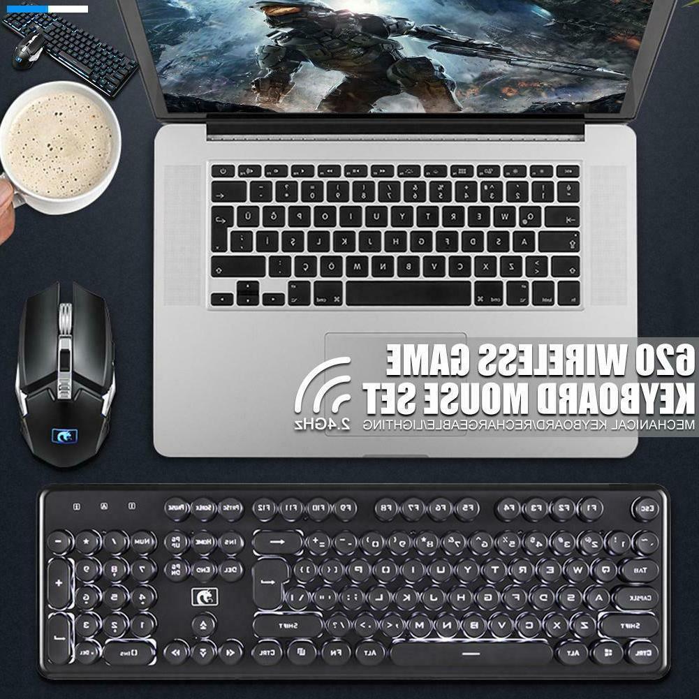LED Computer Gaming Keyboard Wireless Backlight Mechanical