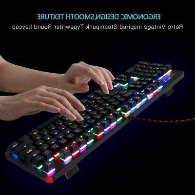 RGB Blue Switch,104 Keys Backlit Led RGB US