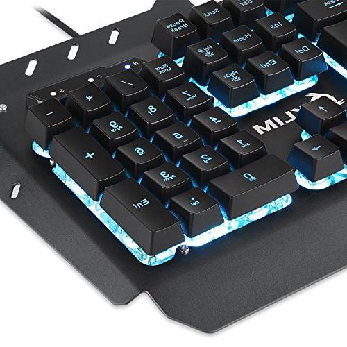 KLIM - Mechanical Led 7 - PC Mac Keyboards - Computer Membrane Gamer USB Teclado Rainbow Keys