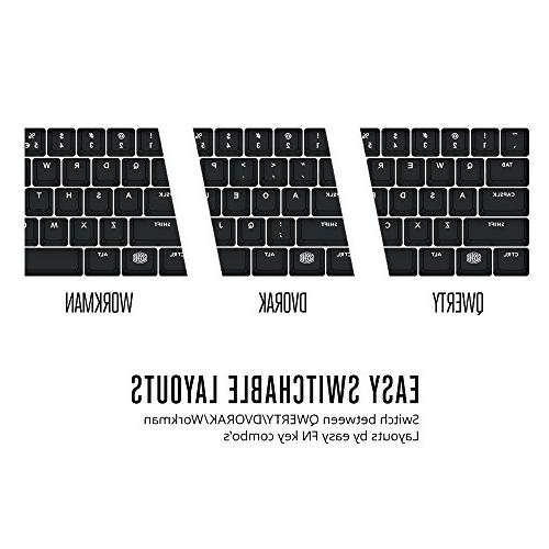 Cooler Master MasterKeys S PBT- Mechanical Keyboard, w/ Green Thick