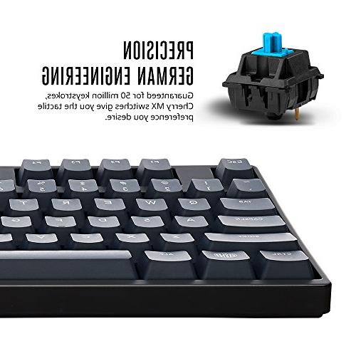 Cooler Master MasterKeys S PBT- Tenkeyless Mechanical Keyboard, w/ 4 Thick 1.5mm PBT