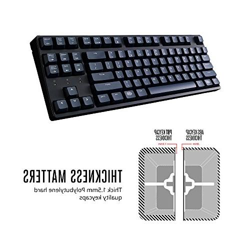Cooler Master MasterKeys S PBT- Tenkeyless Gaming Mechanical Keyboard, Cherry w/ Thick Keycaps