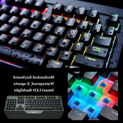 Mechanical Axis Keyboard LED Speed US Standard Ergonomic