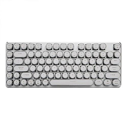 Mechanical Gaming Keyboard Cherry Switches Steampunk Style keycaps Blue 82 Keys White Silver