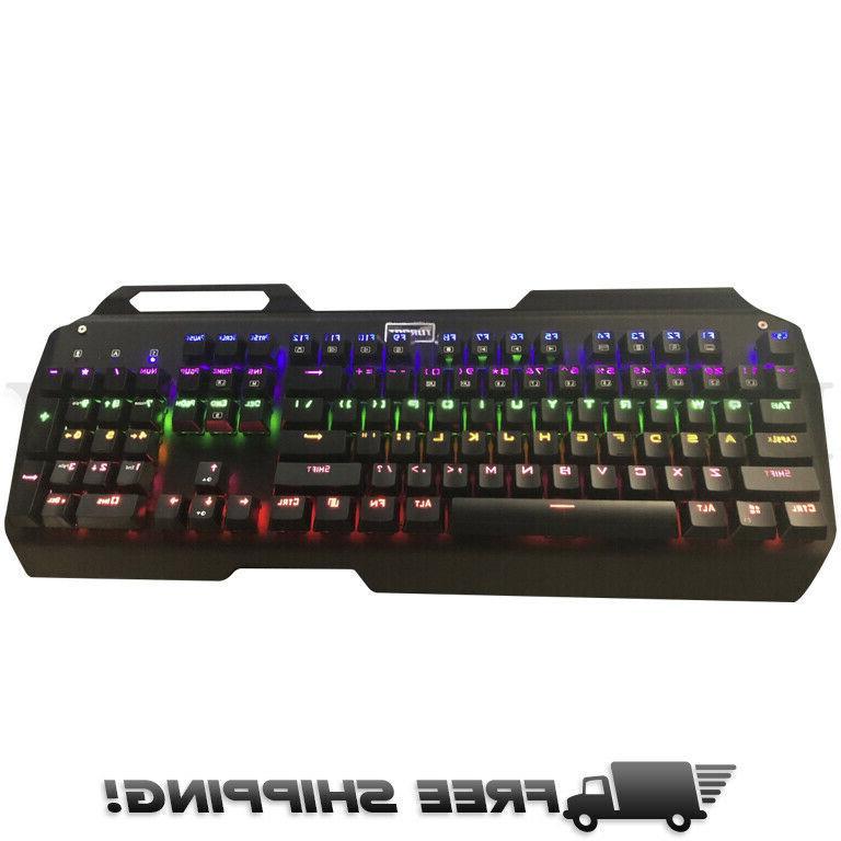 mechanical gaming keyboard ergonomic rgb 104 key