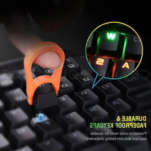 Turbot Mechanical Gaming Keyboard Ergonomic RGB Key USB Combo