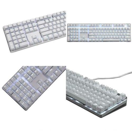 Qisan Mechanical Gaming Keyboard Full Size 108 Keys 100% GAT