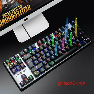 Mechanical RGB LED Keyboard Sensitive Reaction