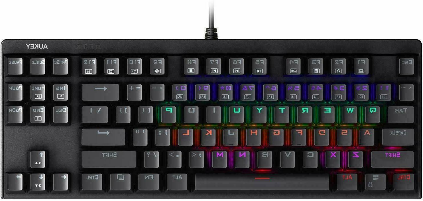 AUKEY Mechanical Gaming Keyboard LED Backlit with Blue Switc