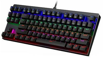 mechanical gaming keyboard led backlit with blue
