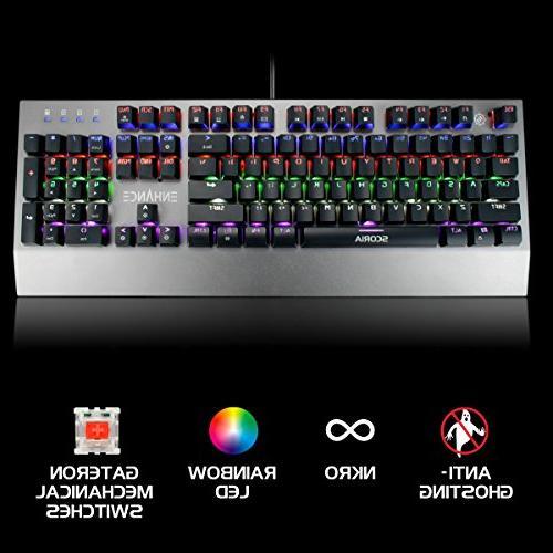 Keyboard 104 Backlit Keys Series FPS/MOBA Metal N-Key Rollover, Modes Keyboard