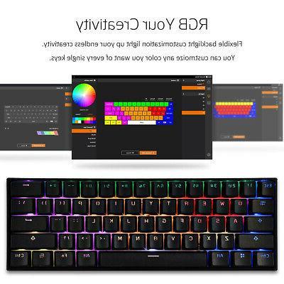 ANNE PRO 2 Gaming RGB Backlit Keyboard 60% ANSI NKRO Switches
