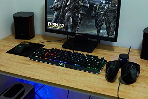 Mechanical Gaming Keyboard,Backlit RGB Gaming 25 Lighting Effects for and Mac
