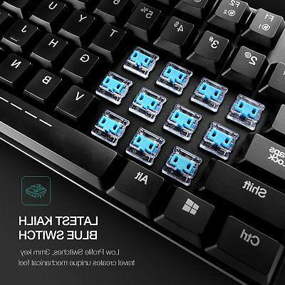 Mechanical Keyboard HAVIT Wired Gaming Light,